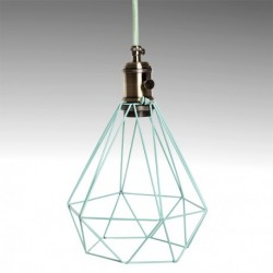 Candeeiro latão verde menta para lâmpada E27