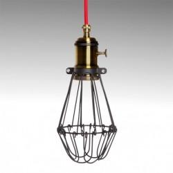 Candeeiro preto vermelho para lâmpada E27