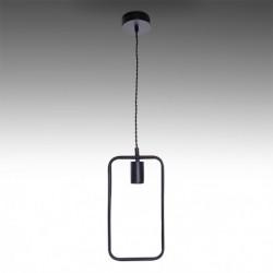 Candeeiro ferro preto para lâmpada E27