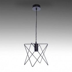 Candeeiro ferro preto para lâmpada E27 N2