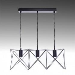 Candeeiro ferro preto para lâmpada E27 N3