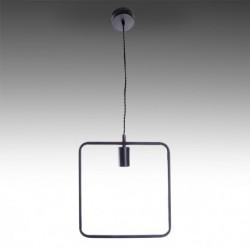 Candeeiro ferro preto para lâmpada E27 N4