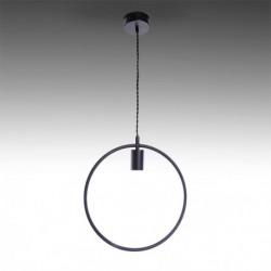 Candeeiro ferro preto para lâmpada E27 N5