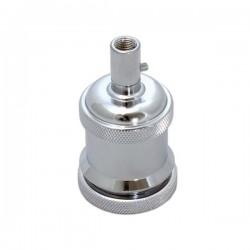 Suporte de lâmpada E27 prata