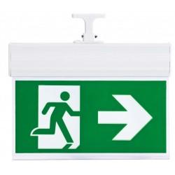 Bloco de emergência para teto 3W esquerda/direita