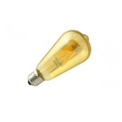 Lâmpada LED filamento dourada 6W
