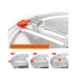 Downlight LED, ajustável ao corte, 20W