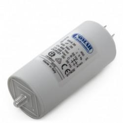 Condensador de motor 25µF, faston, 40x94mm
