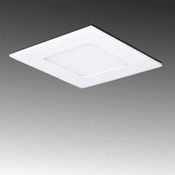 Painel LED 85X85mm 3W Quadrado, aro branco
