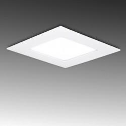 Painel LED 120x120mm 6W Quadrado, aro branco