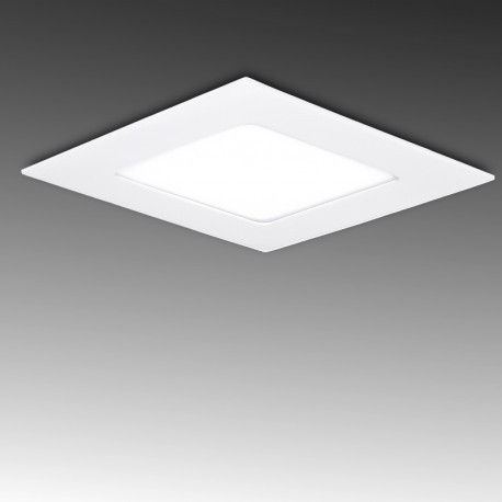 Painel LED 142x142mm 9W Quadrado, aro branco