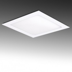 Painel LED 192x192mm 15W Quadrado, aro branco