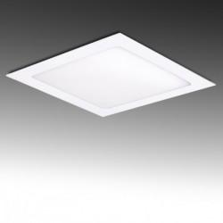 Painel LED 225x225mm 18W quadrado, aro branco