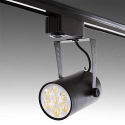 Foco LED 7W preto