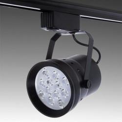Foco LED 12W preto