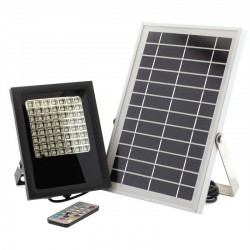 Projector LED solar 5W, RGB+W