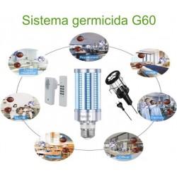 Sistema germicida LED c/ telecomando 60W