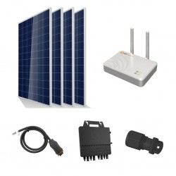 Kit Solar Autoconsumo 1200W, 3kW/dia