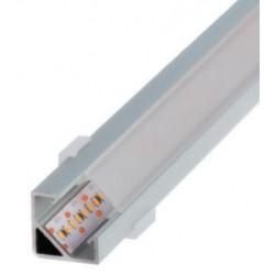 Perfil alumínio Texas para fita LED. Preço de 2 metros