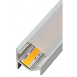 Perfil alumínio Sophia XL Assymetric para fita LED. Preço de 2 metros