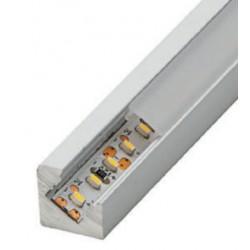 Perfil alumínio Texas Mini para fita LED. Preço de 2 metros