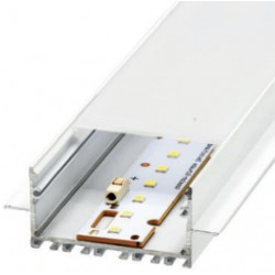 Perfil alumínio Praga para fita LED. Preço de 2 metros