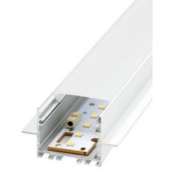 Perfil alumínio Belfast para fita LED. Preço de 2 metros