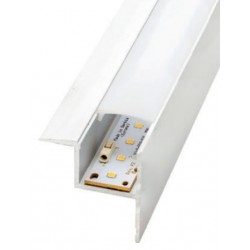 Perfil alumínio Kansas para fita LED. Preço de 2 metros