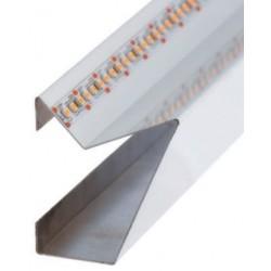 Perfil alumínio Venezia para fita LED. Preço de 2 metros