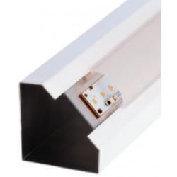 Perfil alumínio Monaco para fita LED. Preço de 2 metros