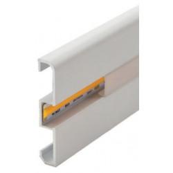 Perfil alumínio Londres para fita LED. Preço de 2 metros