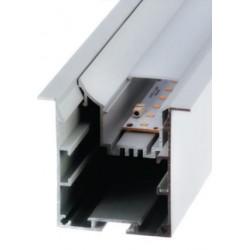 Perfil alumínio Krakovia (com bandeja recuada) para fita LED