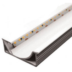 Perfil alumínio Burdeos para fita LED