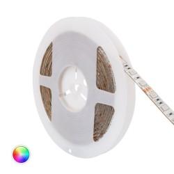 Fita LED 12V IP20 RGB 14W/metro, rolo de 5 metros