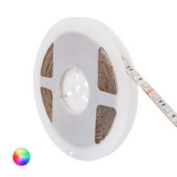 Fita LED 12V IP65 RGB 14W/metro, rolo de 5 metros