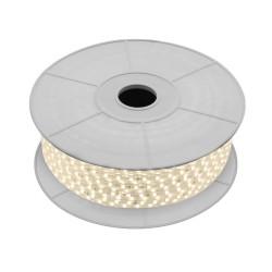 Fita LED 220V IP65, Brancos, 840 lúmens/metro, 10W/metro, rolo de 50 metros