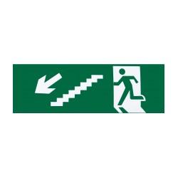 Descer escadas à esquerda
