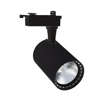 Foco LED Lima Preto 30W para Carril Monofásico