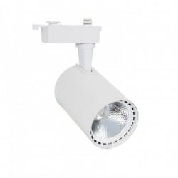 Foco LED Lima Branco 30W para Carril Monofásico