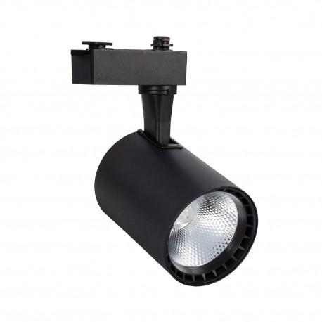 Foco LED Lima Preto 20W para Carril Monofásico