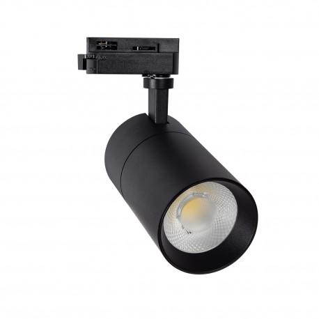 Foco LED Bragança Preto 20W para Carril Monofásico