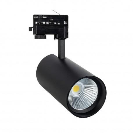 Foco LED New d'Angelo Negro 40W (CRI 90) LIFUD para Carril Trifásico