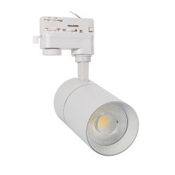Foco LED New Mallet Branco 20W para Carril Trifásico