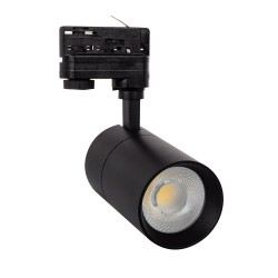 Foco LED New Mallet Preto 30W para Carril Trifásico